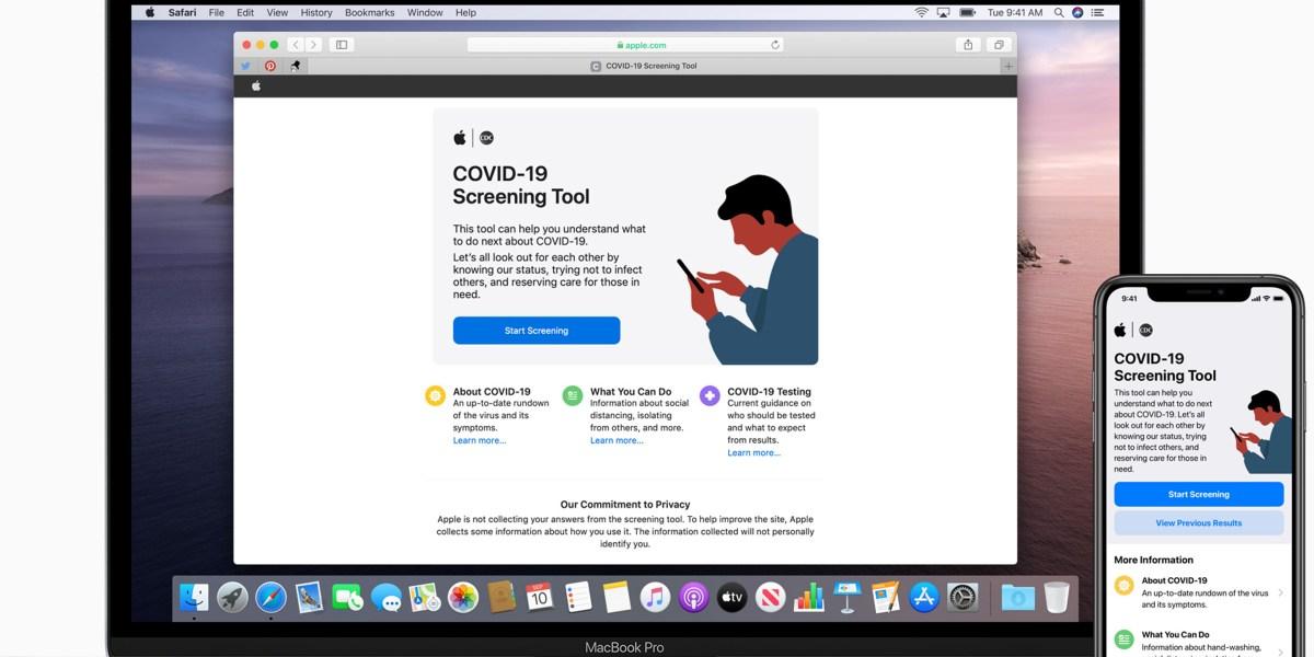 fortune.com .Apple new covid 19 app macbook pro iphone 11 pro 03272020 - Apple releases COVID-19 screening app, website