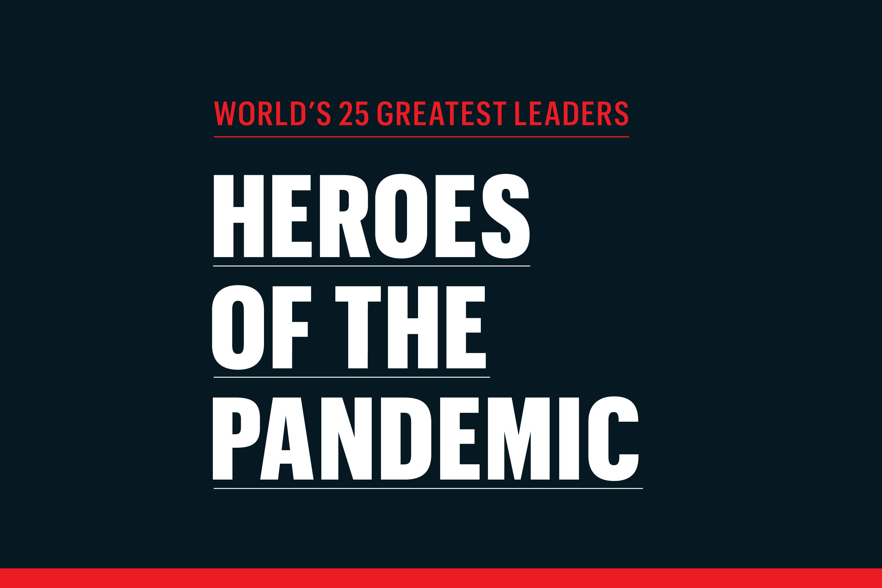 Heroes Of The Coronavirus Pandemic The World S 25 Greatest Leaders List 2020 Fortune