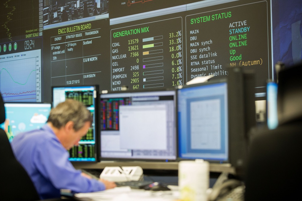 National Grid Plc Control Centre As Network Operator Said It Will Be Vigilant This Winter As Power Margins Shrink