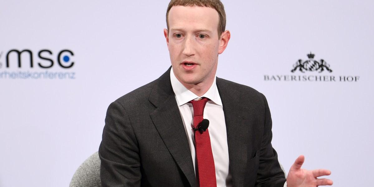 GettyImages 1200875934 - Facebook's Zuckerberg defends his handling of Trump post to staff