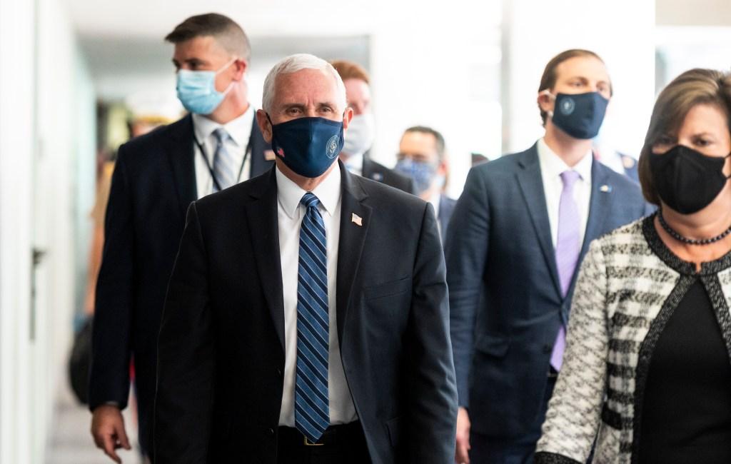 Mike Pence face mask coronavirus outbreaks in U.S.