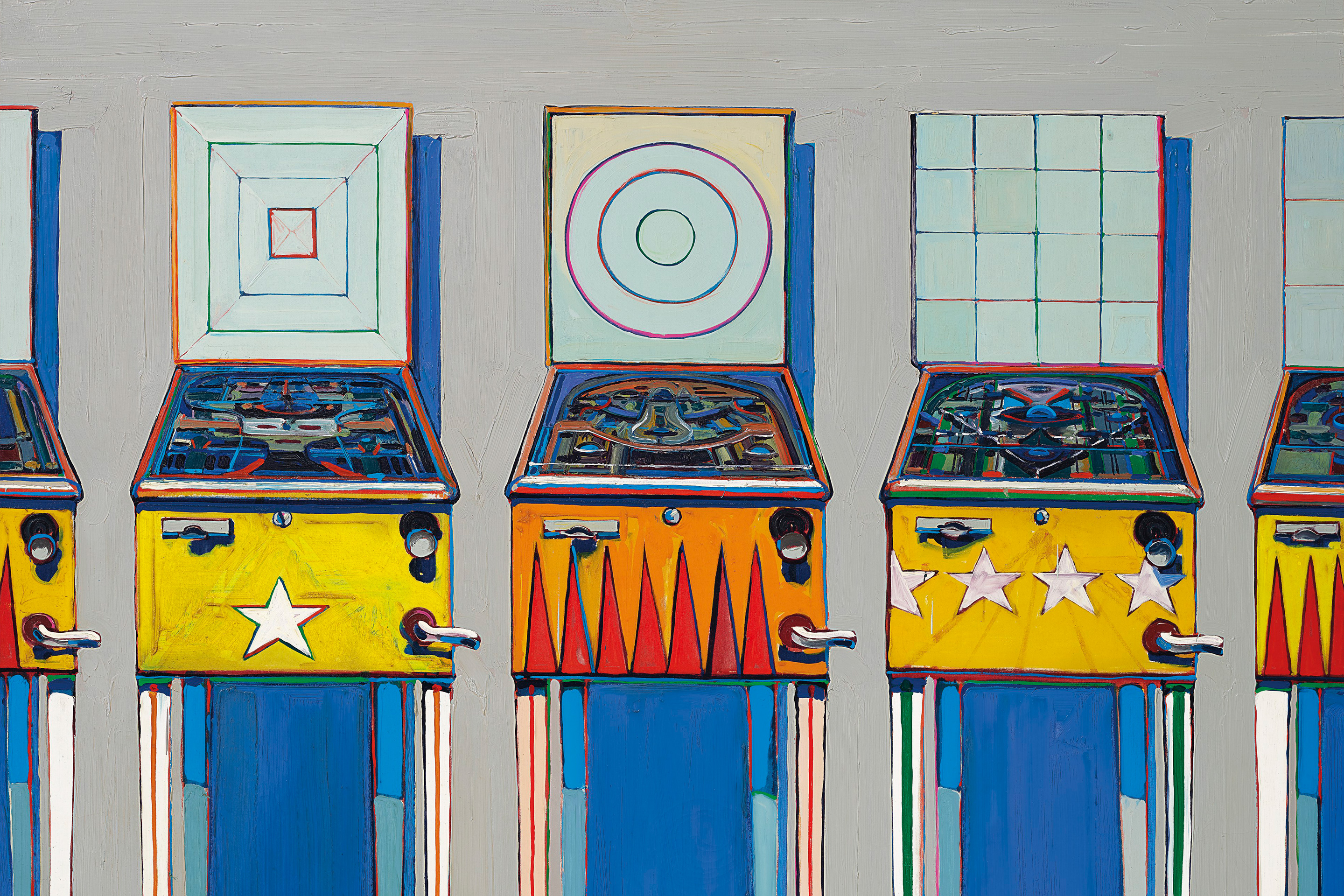 Rare 'pinball machine' painting by Wayne Thiebaud may fetch $25 million at Christie's auction next month thumbnail