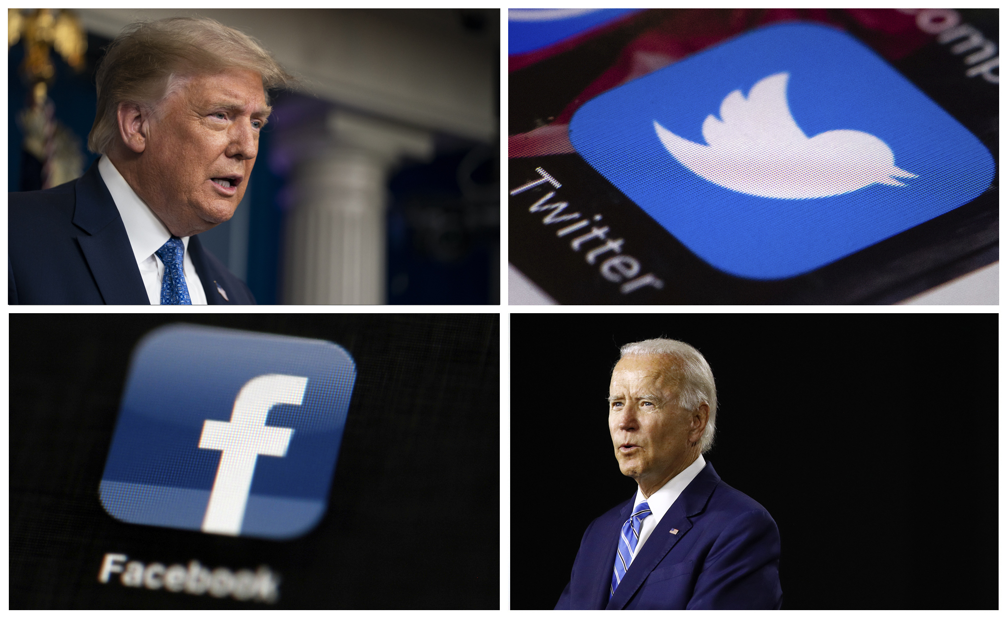 Facebook and Twitter are targets in Trump and Biden election ads thumbnail