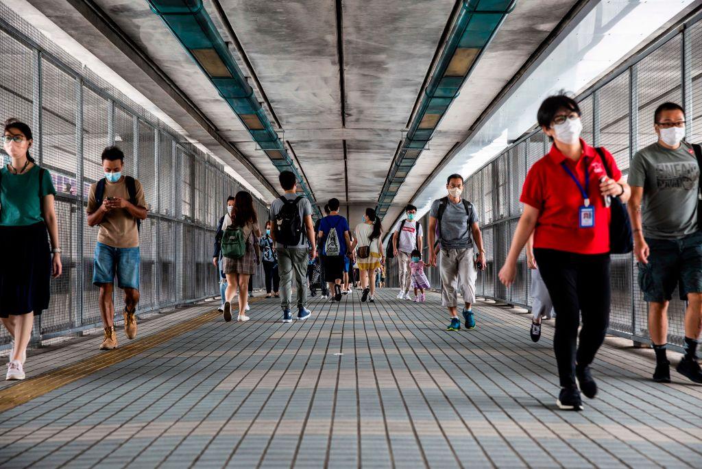 HONG KONG-CHINA-POLITICS-UNREST-ANNIVERSARY