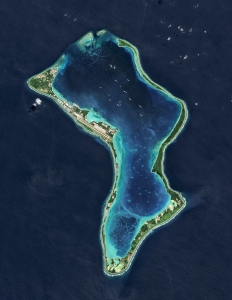 Diego Garcia, a British Indian Ocean Territory and the largest of the islands in the Chagos Archipelago on July 02, 2013.