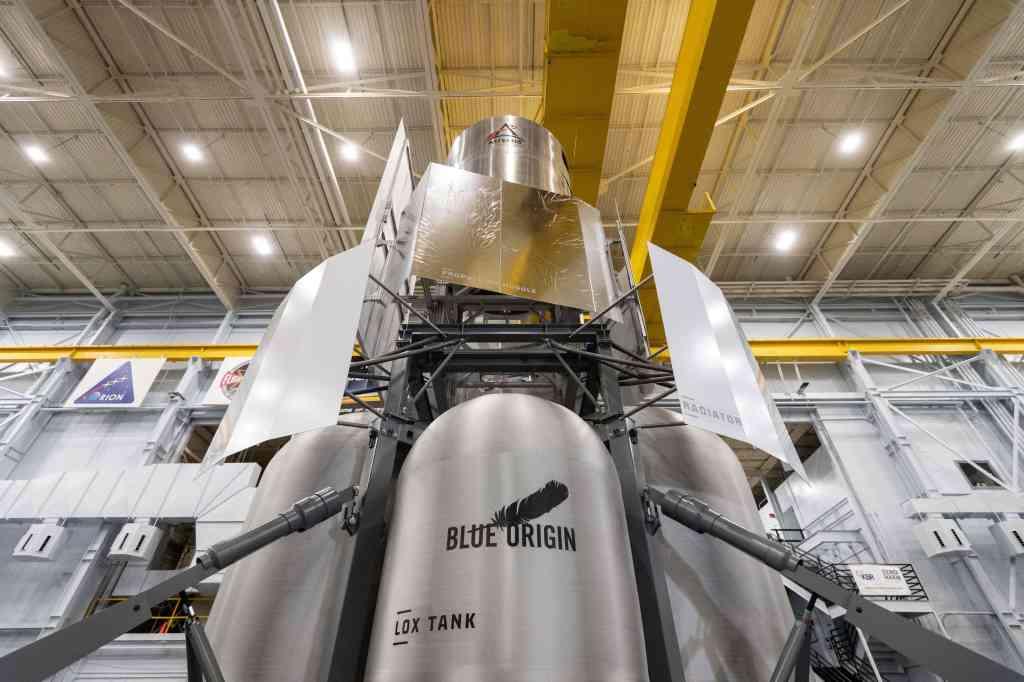 mock up of proposed moon lander
