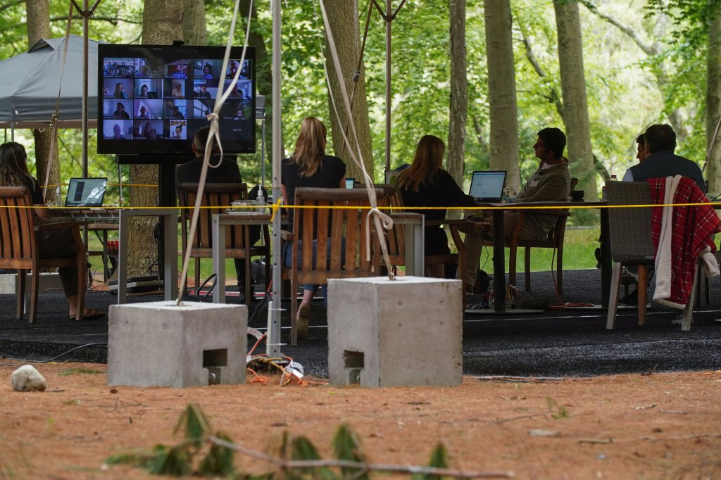 The world's biggest hedge fund is working from tents in the forest during the COVID pandemic