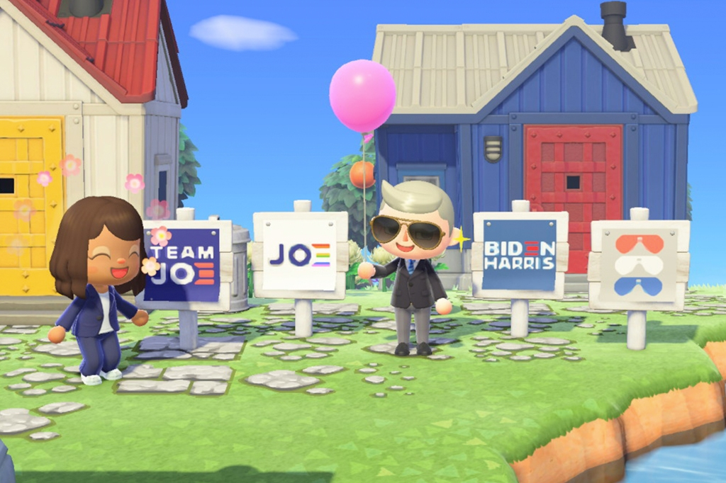 Biden Harris Yard Signs Now Available On Animal Crossing For Download Fortune