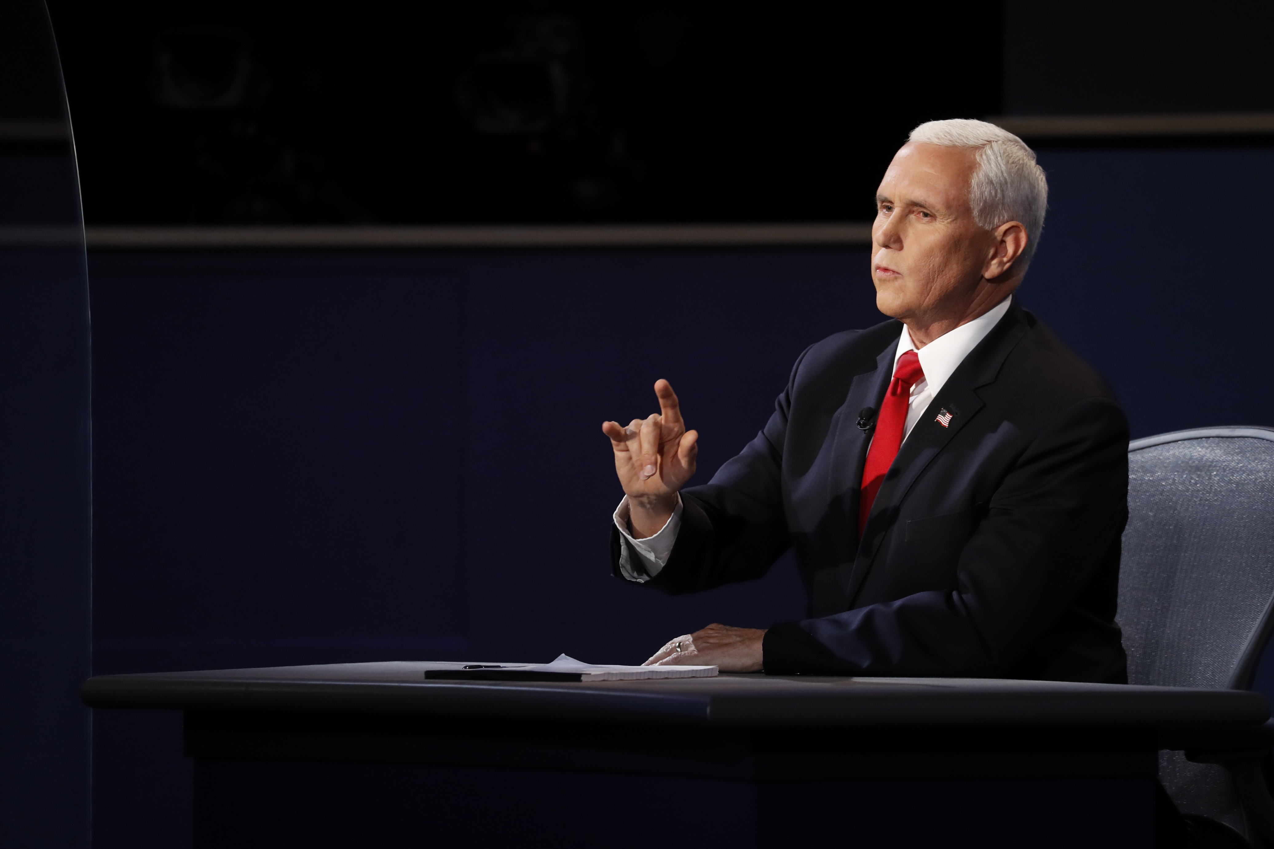Mike Pence, head of the coronavirus task force, struggles to answer questions during debate thumbnail