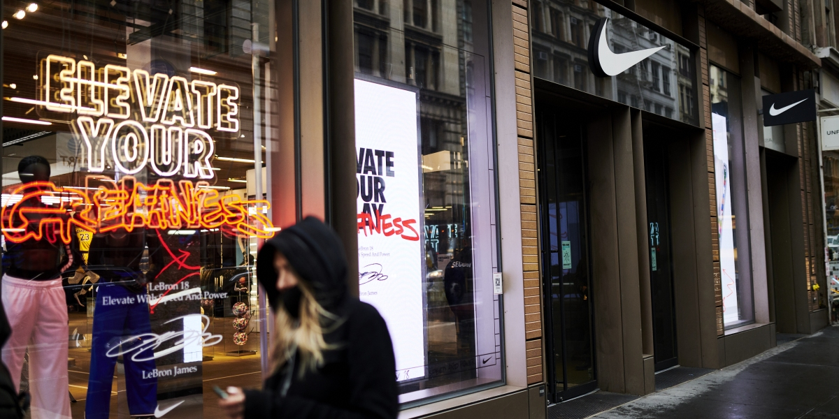 Nike stock hits an all-time high as e-commerce powers through the pandemic