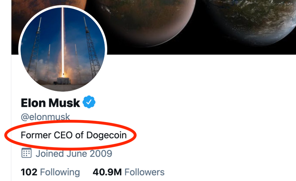 Elon musk Twitter bio, what is dogecoin, history of dogecoin