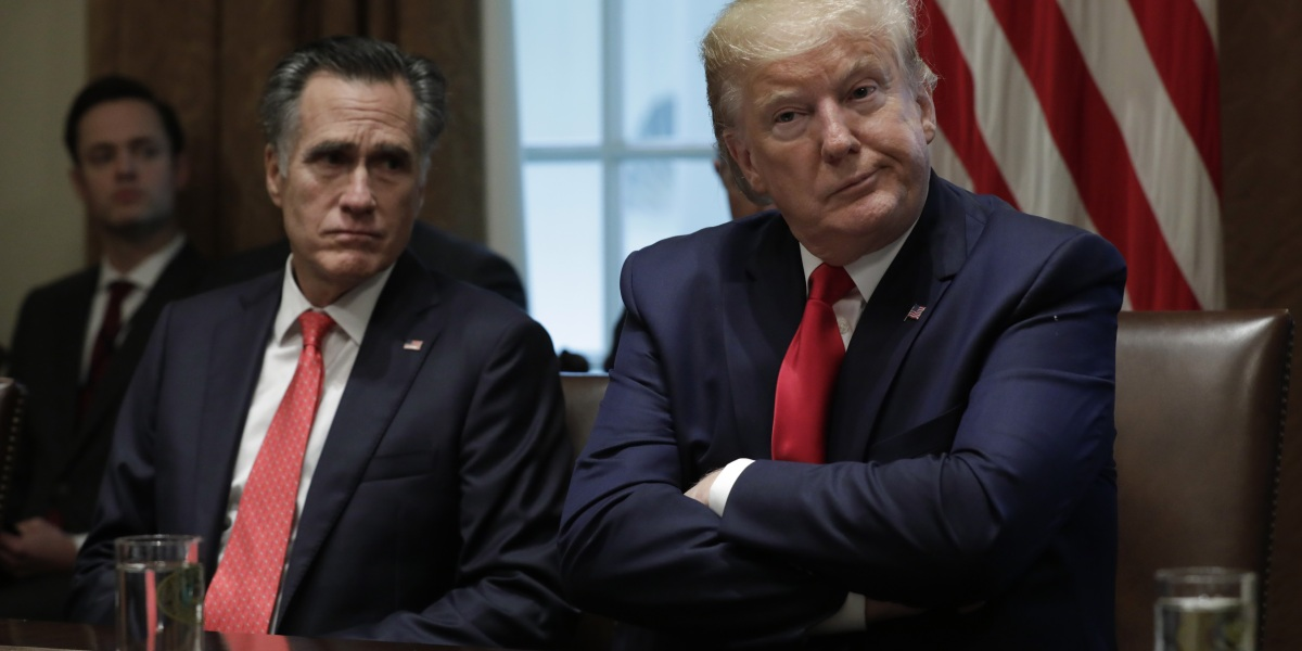 Donald Trump is already a 2024 GOP frontrunner, says Romney—but he still wouldn't vote for him
